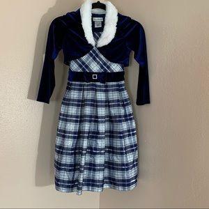 Jona Michelle Girl Plaid Dress